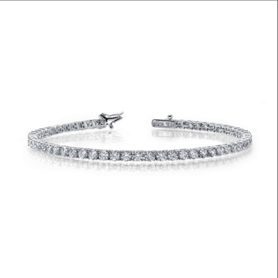 Lafonn Sterling Silver & Simulated Diamond Tennis Bracelet