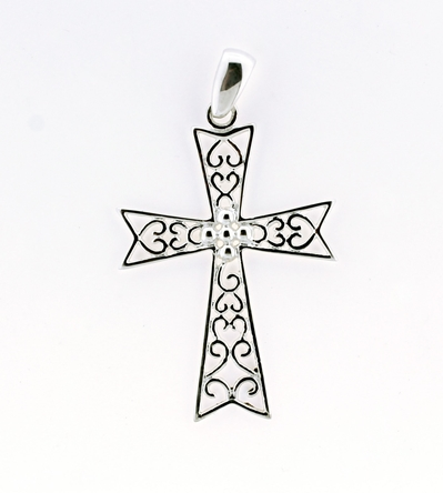 Southern Gates Cross Scroll Pendant