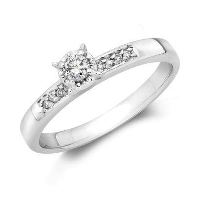 10KW .10CT Engagement Ring