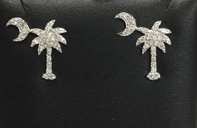 palmetto tree earrings