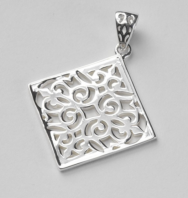 Southern Gates Diamond Scroll Pendant